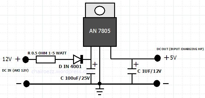 membuat lampu penerangan darurat  neon dc