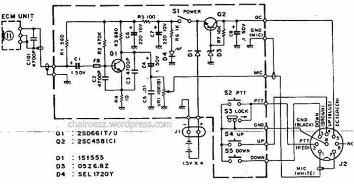 kenwood mc 80 microphone diagram