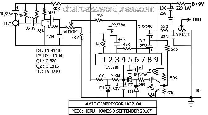 Mic Compressor Ic La3210  Kenwood Mc