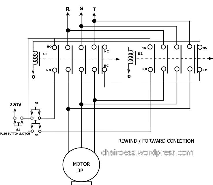 Schematic diagram mencoba untuk bisa skema instalasi motor listrik 3 fasa rewind forward conection ccuart Image collections